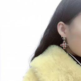 Top laiton matériel paris conception goutte boucle d'oreille agate rouge décorer et timbre logo charme stud pour les femmes bijoux cadeau PS5619 ? partir de fabricateur