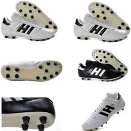 chaussures de football en cuir classiques Promotion chaussures de football originales de Copa Mundial Black White Crampons FG pour les classiques Made in Germany 2019 Coupe du Monde en cuir Bottes de Football botines futbol