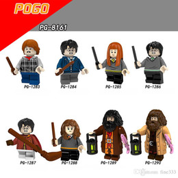famous figures Coupons - Childhood Harry Potter Building Blocks Famous Novel Harry Potter Figures Ron Weasley Hermione Luberhag Graves Gift Toy For Children PG8161