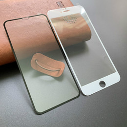 2019 iphone mais 3d vidro temperado Cola completa fibra de carbono borda suave protetor de tela de vidro temperado 3D CURVED para iPhone 11 Pro MAX 7 8 Plus X XR XS iphone mais 3d vidro temperado barato