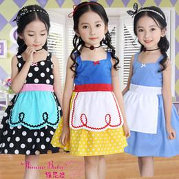 Vestiti di neve bianca per le ragazze online-Summer Girl Princess Long Dress European American Gonna senza maniche Snow White Cosplay Abiti Carino Fancy Dress LLA77