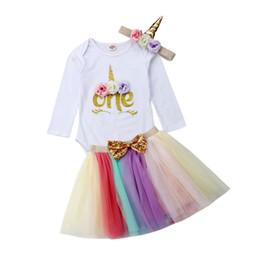 bolo quebra menina Desconto 0-24 M Baby Girl 1º Aniversário Outfit Festa Unicper Romper Bolo Smash Tutu Vestido