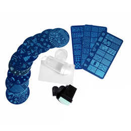 Timbratura di timbri di arte del chiodo online-Nail Art Templates 13 Pz Nail Stamping Stamping Piatto Immagine Francobolli Piastra Nail Art Decor Manicure Profissional Stamping