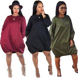 designer dressing gowns ladies 2019 - Brand Designer Women Lantern skirts  ball gown dresses loose mini b9bc53e477