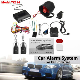 vehicle security alarms Promo Codes - One Way Car Alarm Vehicle System Protection Security System Keyless Entry Siren + 2 Remote Controller Burglar Anti-theft Alarm