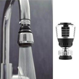 2019 adaptateur rotatif 360 Rotation robinet pivotant filtre adaptateur adaptateur économiseur d'eau robinet aérateur diffuseur cuisine accessoires - Argent noir promotion adaptateur rotatif