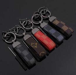 Vecchi portachiavi online-Key Chain Portachiavi auto Portachiavi catene chiave auto Piazza modello Leather Keychain del metallo Vecchio Fiore Mezzo Auto