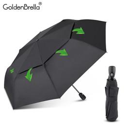 guarda-chuvas compactos grossistas Desconto Resistência Big vento Umbrella For Men Qualidade DoubleLayer Folding Automatic Umbrella Chuva Mulheres Viagem Compact Umbrella Atacado SH190926