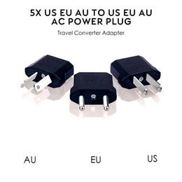 chargeur 4.5v Promotion États-Unis / UE Adaptateur UE UA AC plug adaptateur convertisseur Convertisseur Etats-Voyage européenne en plastique noir Max 2200W Deux Pins