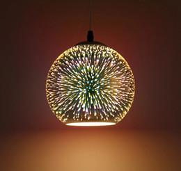 lampade da bar rustiche Sconti Moderno LED 3D sfera di vetro luce del pendente placcato colorato specchio di vetro palla appesa luce diametro 15 cm / 20 cm / 25 cm / 30 cm 110 V-240 V