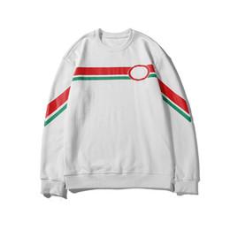 Белые блузки черные кресты онлайн-Дизайнерский бренд Mens Woemens Толстовка Красный Зеленый Крест с принтом Черный Белый 2 Цвета Блузка с длинным рукавом Толстовки Высокого Качества LSY98282