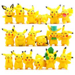 2019 Mobili Pikachu giallo fumetto assemblaggio fai-da-te piccoli giocattoli mobili da moda jeans bambino fornitori