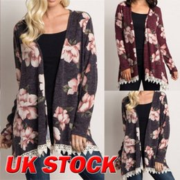 1b510df21d1 UK Plus Size Women Holiday Floral Kimono Cardigan Ladies Summer Tops Blouse