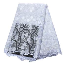 африканские кружева ткань 2018 кружева высокого качества последние 2019 тюль из бисера ткань африканская ткань французский нигерийский белый кружевной ткани от