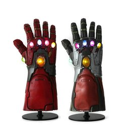 Avengers 4 Endgame Thanos Gants Iron Man avec LED Gants en Latex Naturel Iron Man Infinity Gauntlet Enfants Adulte Gant Halloween Cosplay ? partir de fabricateur