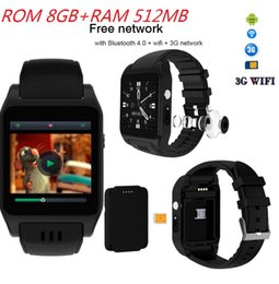 android bluetooth app Promo Codes - RAM 512MB ROM 8GB WiFi Smart Watch Support Internet APP download Twitter Facebook Whatsapp Bluetooth 4.0 3G Smartwatch w  camera Phone Call