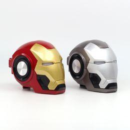 2019 beliebte weihnachtsgeschenk Iron Man kopf Mini drahtlose Bluetooth Lautsprecher Boombox Ironman Lautsprecher cartoon caixa de som altavoz ducha new bt von Fabrikanten