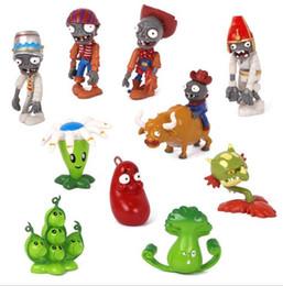 jeux vidéo manuels Promotion 10 style Plantes Vs Zombies Dummy Cartoon solide PVC Fabriqué À La Main Jeu Poupées Auto Arrangements Figure Statue