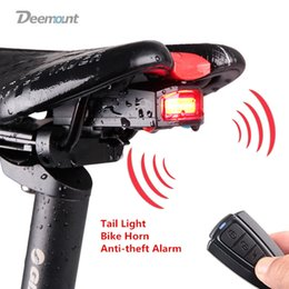 cb7bc908130 Deemount Bicycle Rear Light+Anti-Theft Alarm USB Charge Wireless Remote  Control LED Tail Lamp Bike Finder Lantern Siren Warning  163929