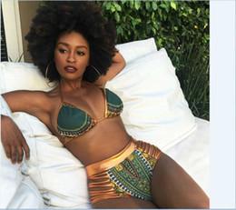 2019 swimsuit de franja de uma peça branca Hot Sexy Africano Imprimir Two-Pieces Mulheres Strap Biquíni De Cintura Alta Maiôs Bakini Swimsuit Push Up Swimwear Plus Size 5 Clour