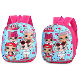 canvas backpack wholesale for men Coupons - 12inch spider-man Backpacks for Children Kawaii Cartoon Dolls Schoolbag Baby Girls Fashion swagger bag Double Shoulder Pack Kids School zx06