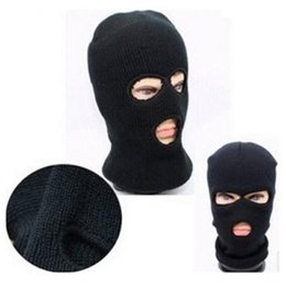 New 3 Hole Face Mask Beanie Winter Warm Ski Snowboard Hat Cap Wear Balaclava  Full Face Cover Mask Wholesale 6c94ed36167c