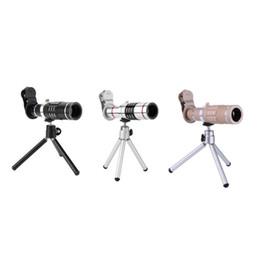 Линза объектива 18x zoom онлайн-18x зум оптический телескоп телеобъектив со штативом клип комплект универсальный телефон объектив камеры для iPhone Samsung мобильный телефон новый