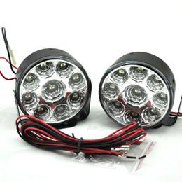 luzes de nevoeiro redondas para carros Desconto Branco brilhante 9W LED Rodada Dia Nevoeiro Lâmpada Luz Car Auto condução Daytime Running luz Car Fog Lamp