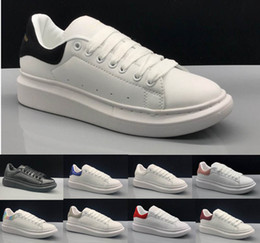 Argentina 2019 New Alexander McQueen casual running shoes for women size 35-43 free shipping cheap ladies pink running shoes Suministro