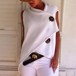 2019 chemises à manches courtes pour femmes Nouveau bouton irrégulier Designer Womens T-shirts de mode manches courtes Loose Womens Hauts Summer Ladies Fashion Tees promotion chemises à manches courtes pour femmes
