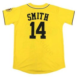 fresh shirts Promo Codes - Wholesale Mens The Fresh Prince of Bel-Air Academy #14 Will Smith Baseball Jerseys Yellow Cheap Stitched Baseball Jersey Shirt