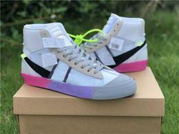 Decine di scatola online-Nike Blazer mid off-white Con Box Orange Black Blazer MID Grim Reepers scarpe da corsa da donna da donna Stripe Cavans THE TEN PRESTRO scarpe da ginnastica firmate da basket
