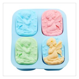 clay mold shapes Coupons - Soap Mold Craft Tools Silicone Angel Shaped Decorating Making Candy Fondant Clay Soap Suitable For Making Fondant cake chocolate