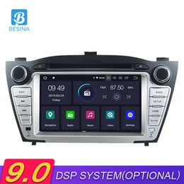 dvd de tucson Rebajas Besina Android 9.0 Car DVD Player para Hyundai IX35 / TUCSON 2009-2015 Multimedia GPS Navigation Stereo 2 Din Car Radio WIFI audio