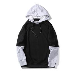 Простой серый капюшон онлайн-Уличная одежда Простые толстовки для мужской одежды Весна Осень Длинные рукава Негабаритных Толстовка с капюшоном Повседневная Толстовка мужской Черный Серый