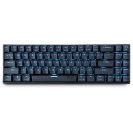 Беспроводные светодиодные клавиатуры онлайн-Royal ляп RK71 71 Ключи Механическая клавиатура Малые Компактный Bluetooth 3.0 Wireless USB Ice Blue LED подсветкой синий коричневый Переключатель