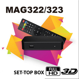 Tvs de internet on-line-MAG 322 Digital Set Top Suporte Receiver Box Multimedia Player Internet HEVC H.256 Com WiFi Lan HDMI PK Android Smart Box TV