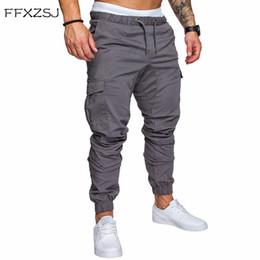 2018 FFXZSJ Marca Hombre Pantalones Hip Hop Harem Joggers Pantalones 2018 Hombre  Pantalones Hombre Joggers Sólido Multi-bolsillo Sweatpants 4XL Ofertas de  ... 0c6a09cf9f9