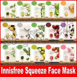 Листовая кожа онлайн-Innisfree My Real Сожмите маска для лица Листовые Виды Увлажняющий Контроль Масло для лица по уходу за кожей Маски для макияжа