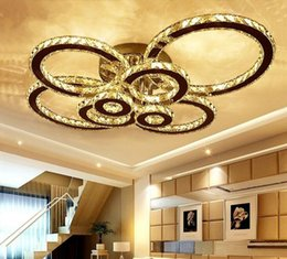 Хрустальная подвесная потолочная люстра онлайн-Светодиодный потолочный светильник K9 Crystal Flush Mount Chrome потолочные светильники лампа 8 круглая светодиодная люстра светильник с пультом дистанционного управления для жизни MYY