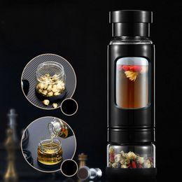 protetor shaker garrafa direta direta Desconto Nova 2019 Garrafa de alta qualidade de água 430ML de vidro com chá Infuser do chá de água Garrafa de calor-resistindo 4 cores
