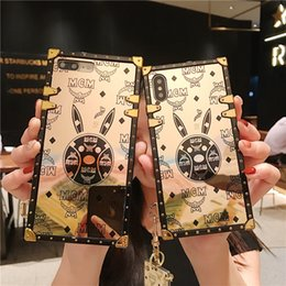 rugged mobiles Coupons - Gold Rabbit Phone Case Covers for Apple iPhone XS Max XR X 6s 7 8 Plus Samsung S8 S9 S10 Plus Lite Rugged Mobile cases for Women
