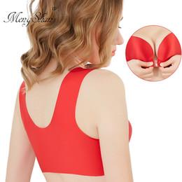 34b sport bh größe online-Große Unterwäsche für Damen unter der Schnalle Unterwäsche Damen Erhöhen Sie den Dünger Schlaf Sport-BH Erhalten Sie Parabreast-Weste in Übergröße
