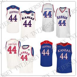 c99758098 BENUTZERDEFINIERTE Mitch Lightfoot Kansas Jayhawks Jersey No. 44 College  Basketball Jerseys Genäht Mens Frauen Jugend Custom Jede Name Nummer XS-6XL  4xl ...