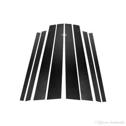 papel de embrulho de fibra de carbono Desconto Design de moda De Fibra De Carbono Janela Do Carro B-pilares Etiqueta Decorativa Para BMW E60 E90 F30 F10 F10 F70 E70 E84 E46 Car Styling Guarnição Acessórios