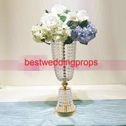 Nuovo vaso in argento stile e centrotavola fiore, vaso tromba acrilico per matrimoni best0989 da