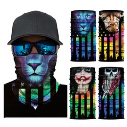 fascia magica degli uomini Sconti Uomini che guidano la fascia magica Maschera per il viso creativa Sciarpe Bandane Stampa del fumetto Sciarpe senza cuciture digitali Maschere magiche Sciarpe TTA1681