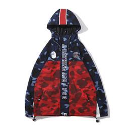 Marche giacche popolari online-Felpe con cappuccio in poliestere da uomo Felpe con cappuccio a vento Cappotto per il tempo libero Cardigan popolare Marca popolare Risvolti sottili con cappuccio Giacche Taglie M-2XL