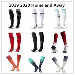 Canada 19/20 chaussettes de football pour hommes du Real Madrid à domicile chaussettes de football pourpres de football pourpre de l'équipe de club 2018 en vente Offre