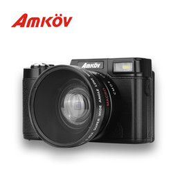 electronic filters Coupons - AMKOV CD-R2 Digital Camera Video Camcorder With 3 Inch TFT Screen UV Filter 0.45X Super Wide Angle Lens 1080P Photo Cameras